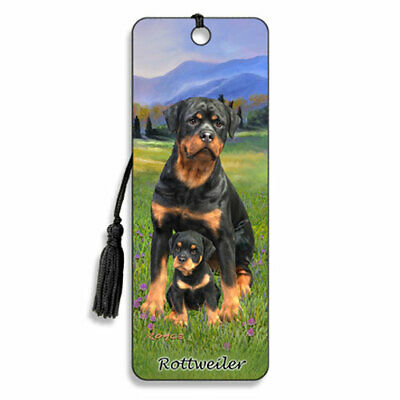 £4.29 • Buy 3D Bookmark Rottweiler Dog Lover Gift Him Her Kids Puppy Animal Countryside