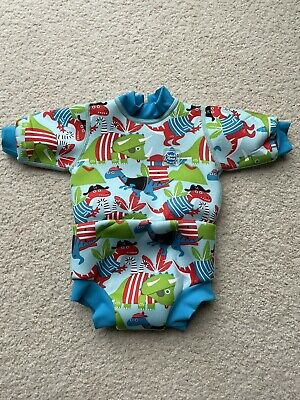 £3 • Buy Splash About Happy Nappy Pirate Dinos Wetsuit 0-3 Months (Small)