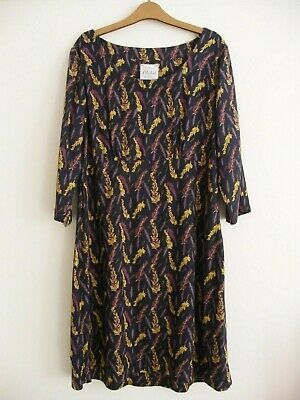 £8 • Buy Lovely Mistral Dress Size 12, Navy, Mustard, Lilac And Purple, VGC