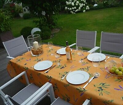 £26 • Buy Tablecloth Provence 150x300 CM Olives Terra France Non-Iron Easy-Care