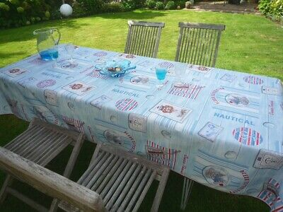 £22.28 • Buy Tablecloth Provence 150x240 CM Light Blue Cats And Dogs France Non-Iron