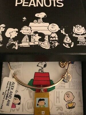 AU65.43 • Buy Alex And Ani Peanuts The Doctor Is In, Shiny Gold Bangle New W/ Tag Card & Box