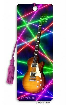 £4.49 • Buy 3D Bookmark Electric Classical Guitar Player Music Musician Lover Gifts Him Her