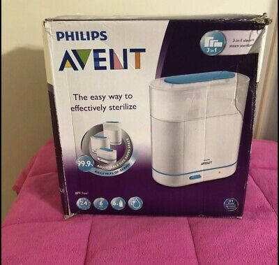 AU39.88 • Buy Philips Avent 3-in-1 Electric Steam Sterilizer Baby Bottle Steamer