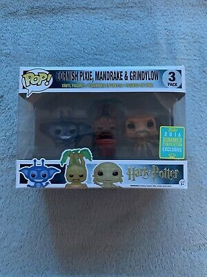 £42 • Buy Cornish Pixie, Mandrake And Grindylow Summer Convention Exclusive Funko Pop