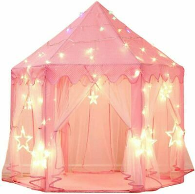 £14.59 • Buy Princess Castle Play Tent For Girls Large Kids Hexagon Playhouse Indoor Toys UK
