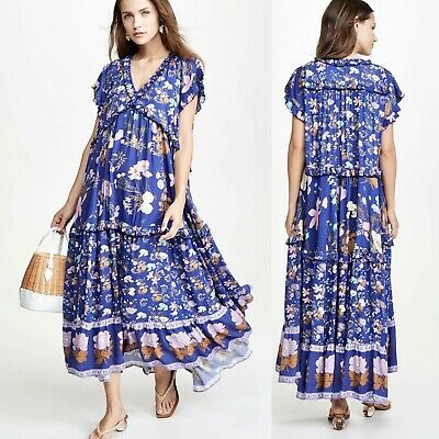 AU170.92 • Buy Spell & The Gypsy Collective Size XL Multicolor Wild Blooms Rayon Maxi Dress