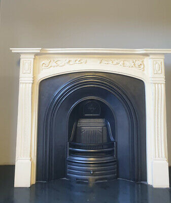 £545 • Buy Cast Iron Fireplace Fire Arch Arched Victorian Style Surround Composite Marble