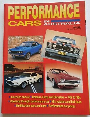 AU12 • Buy PERFORMANCE CARS IN AUSTRALIA BOOK 1993 Ford XY GT Mustang Mazda Holden Torana