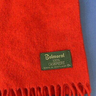 £13.99 • Buy 100% Pure Cashmere Scarf By The House Of Balmoral | Bright Red | Plain Colour