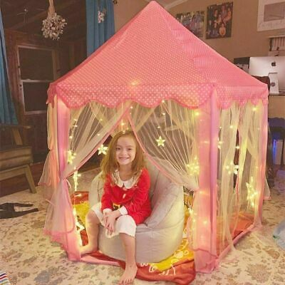 £25.99 • Buy Kids Playhouse Play Tent Pop Up Castle Princess Indoor Outdoor Girls Gift W/ LED
