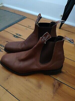 AU200 • Buy Brand New RM Williams Comfort Boot, Size 8G, Burgundy/Red-Brown Color