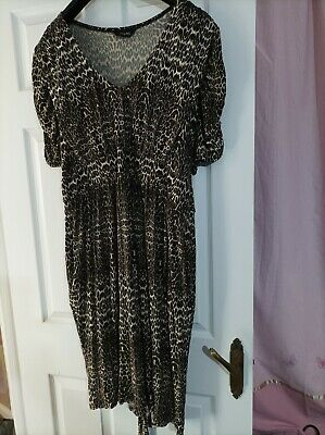 £4.99 • Buy (15) Animal Print Dress By Yours Size 26 / 28