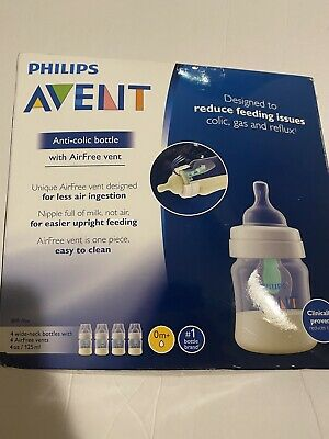 AU30.61 • Buy Philips Avent Anti Colic Baby Bottles With AirFree Vent 4oz 4pk SCF400/44