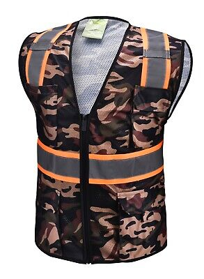£9.40 • Buy Camouflage Two Tones Safety Vest ,With Multi-Pocket Tool