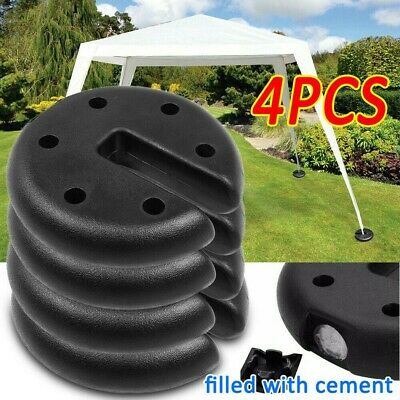 AU58.69 • Buy Outdoor Tent Weight Base 4pcs Gazebo Foot Leg Pole Anchor Weights Marquee