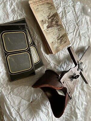 """£5 • Buy Antique """"the Paragon Scope"""" Perspective Slide Viewer + Slides"""