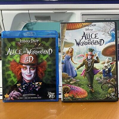 £3.63 • Buy Alice In Wonderland / Tim Burton With Johnny Depp , Set Of Two 3D Blue Ray