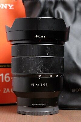 AU827.81 • Buy Sony Zeiss Vario-Tessar T 16-35mm F/4 FE ZA OSS Lens With Hood And Box