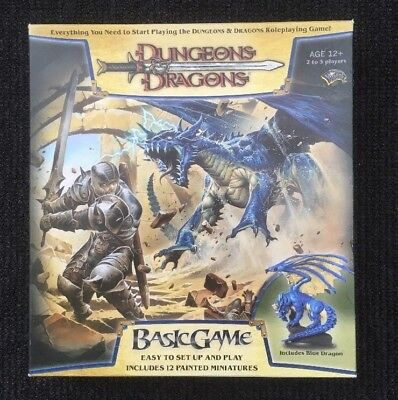 AU175 • Buy Dungeons And Dragons Basic Game 2006 Edition With RARE Blue Dragon Figure