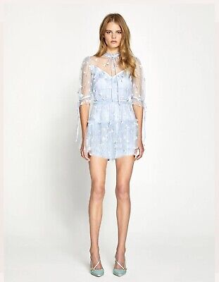 AU240 • Buy Alice Mccall, Moon Lover Blue Playsuit, Size 8 , BRAND NEW