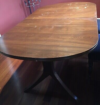 AU80 • Buy Vintage Large Extendable Oval Dining Wooden Wood Table