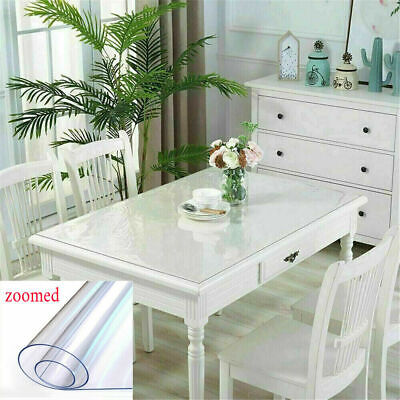 AU27.87 • Buy Cut-to-Sizes PVC Tablecloth Cover Protector Plastic Vinyl Dining Table Cover AU