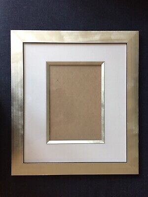 """£19 • Buy Silver Photo Frame With Mount -  Fits 10"""" X 7"""" Photo"""