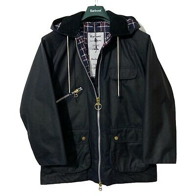 AU735.59 • Buy Barbour Alexa Chung Violet Navy Ladies Hooded  Wax Jacket BNWT Oversized Size 6