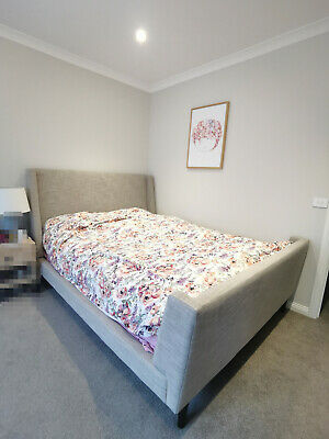 AU200 • Buy Grey Queen Sized Bed Frame From Freedom Furniture
