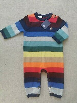 £2 • Buy Baby Gap Knitted Rainbow Colourful One Piece 3-6 Months BNWT