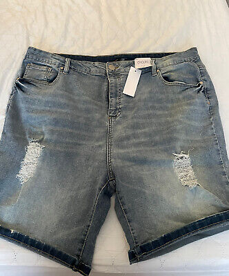 £9.99 • Buy Yours Plus Size Denim Shorts   Size UK 24   New, Never Worn, With Tags
