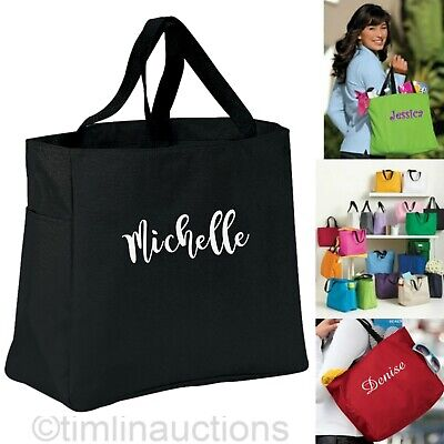 £30.18 • Buy 6 Personalized Tote Bag Bridesmaid Gift Cheer Dance Monogrammed Bridal Party