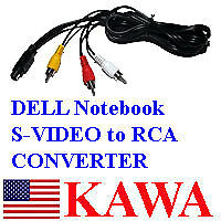 S-VIDEO 7 PIN To 3 RCA Cable TV For ACER Dell LAPTOP • 4.37£