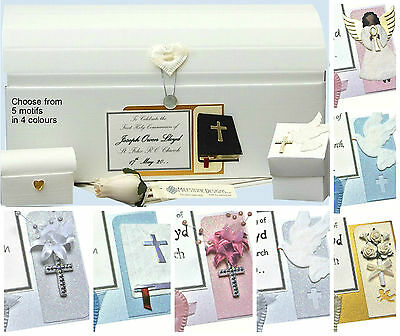 PERSONALISED Holy Communion/Confirmation Keepsake Memory Chest Box - Inc. Extras • 18.99£