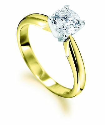 0.50ct Solitaire Diamond 4 Tulip Claw 18ct Yellow & White Gold Engagement Ring • 1,428.90£