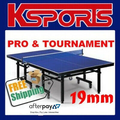 AU475 • Buy Table Tennis Ping Pong Table Pro Size 19mm Top - Ittf Approved Manufacturer