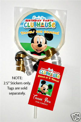 $6.49 • Buy 12 Mickey Mouse Clubhouse Birthday Party Favor Personalized Lollipop Stickers