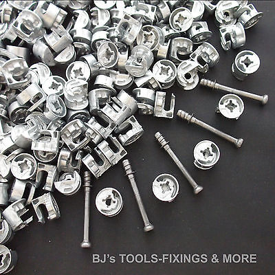 96 PIECE CAM LOCK DOWEL SET FOR 15-16mm PANEL CARCASE • 9.99£