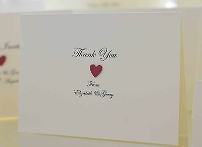 £5 • Buy 10 X Wedding Thank You Cards (Personalised & Handmade) Victoria