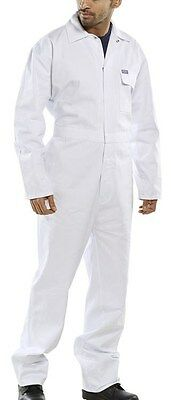 £16.99 • Buy 100% Cotton Drill Boilersuit Overalls Coveralls - White - Various Chest Sizes
