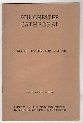 Winchester Cathedral - Guide C1960 / Booklet • 8£