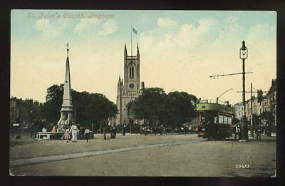 £8 • Buy Sussex BRIGHTON St Peter's Church Tram #16 Early PPC