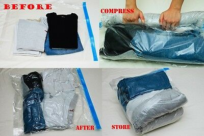 £10.06 • Buy 15 Pack Roll-up Travel Storage Bag Space Saver Discount