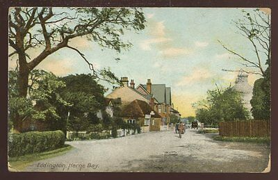 Kent EDDINGTON Village Herne Bay 1907 PPC • 9£