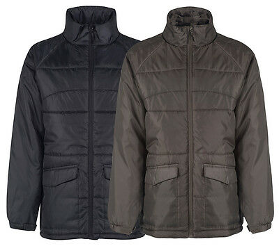Peter Storm Mens Warm Insulated Winter Parka Coat Padded Jacket - Navy - Brown • 9.99£