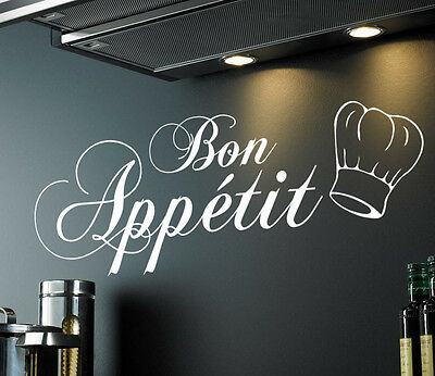 Bon Appetit | Kitchen Dining Room Wall Sticker Quote Decal Vinyl Words • 6.99£
