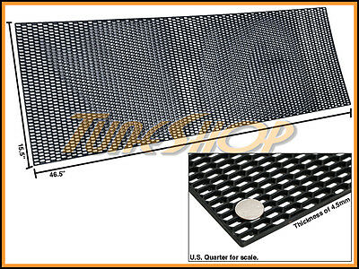 $44.95 • Buy Plastic Abs Universal Black Sport Mesh Grill Grille Car Stock Oe Style 15 X46  E