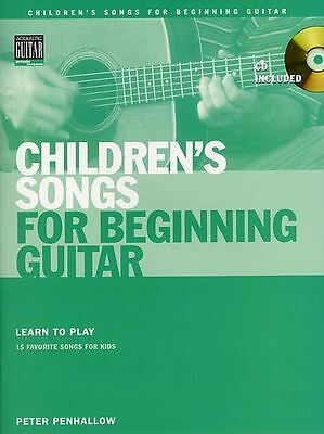Childrens Songs For Beginning Guitar Learn To Play TAB Music Book & CD • 13.99£