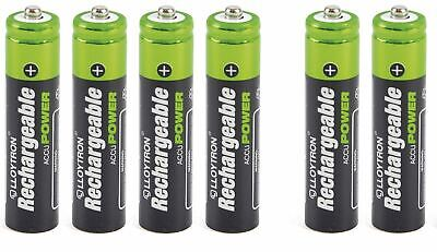 6x AAA RECHARGEABLE BATTERIES LLOYTRON COMPATIBLE WITH BT SYNERGY 4500 5500 6500 • 4.95£